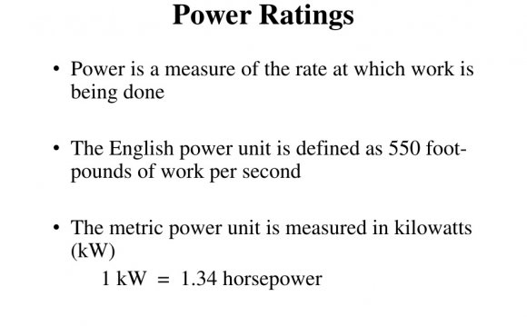 Power unit is defined as