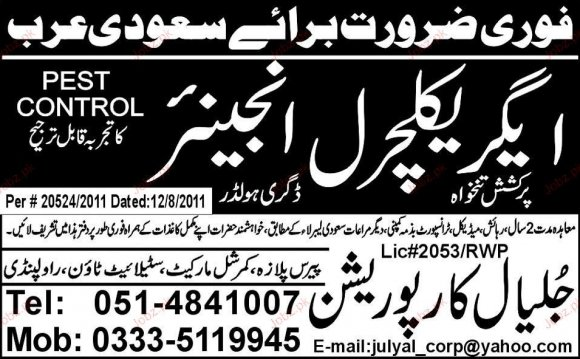 Agriculture Engineers Job
