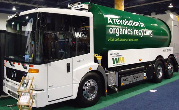 Refuse truck at Waste Expo