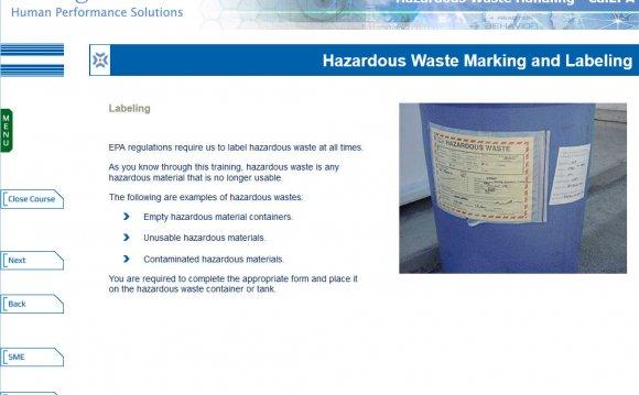 Hazardous Waste Handling –