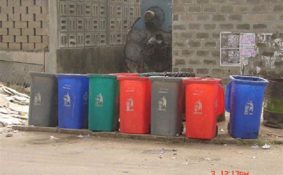 Medical waste storage area at