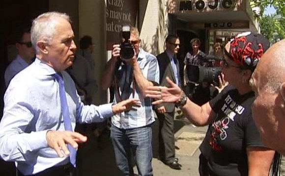 Malcolm Turnbull is confronted