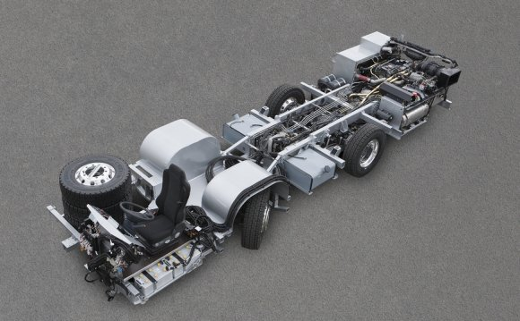The dual-axle chassis is meant