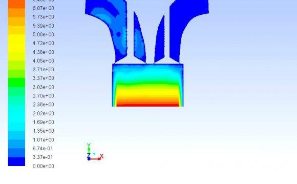 Engine CFD (fluent) simulation