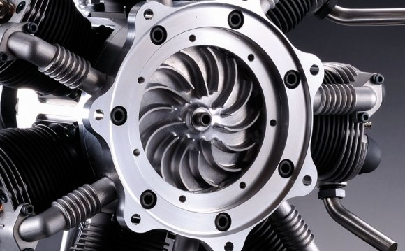 The impeller distributes