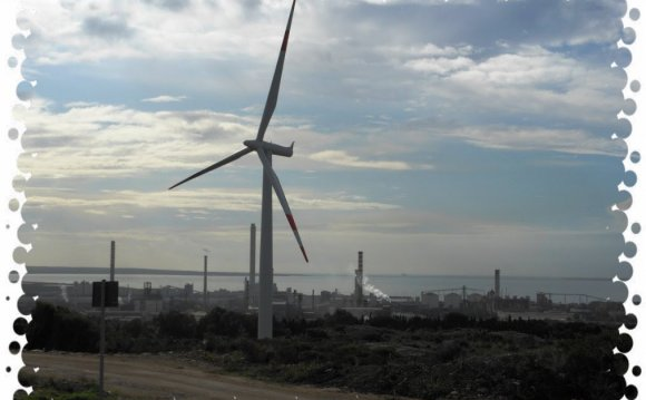 Portoscuso:Wind farm and