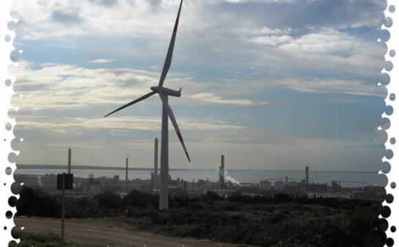 Portoscuso:Wind farm and
