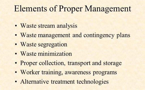 Elements of Proper Management