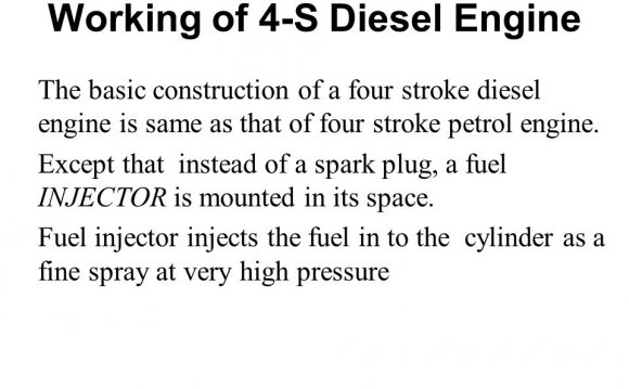 Working of 4-S Diesel Engine