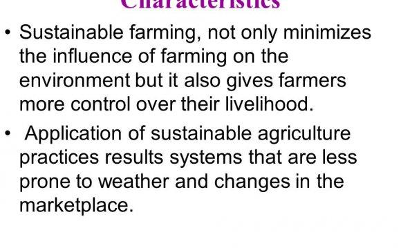 Characteristics Sustainable