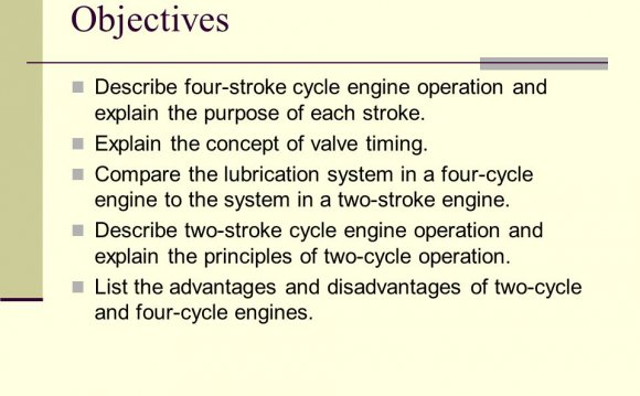 Describe four-stroke cycle
