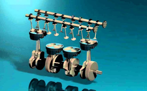 Pro Engineer 4 stroke engine