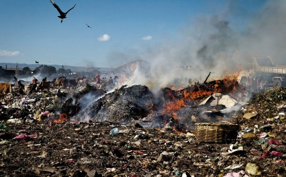 Burning of municipal wastes is
