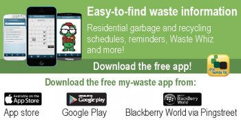 Advertisement for My-Waste app