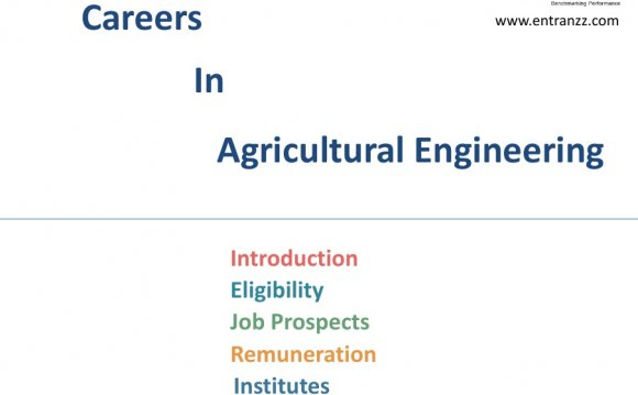 Careers in Agricultural Engineering
