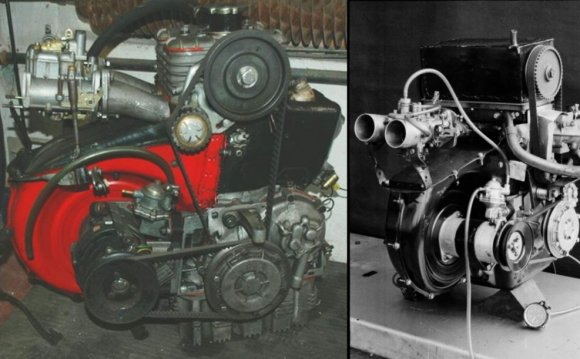 Four strokes of a four stroke engine