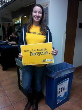 Kristen Klein at Recyclemania