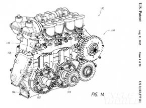 Moment-Cancelling 4-stroke engine drawing #1