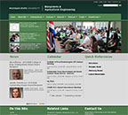 Screen shot of Biosystems & Agricultural Engineering website