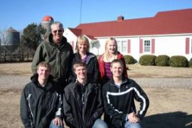 The Peterson Family in front of our family farm!