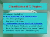 Classification of internal combustion engine