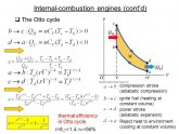 Thermal efficiency of internal combustion engine