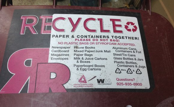 Waste Management Recycling list