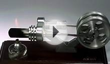 A Stirling Engine (external combustion engine) running in