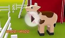 Farm animals for kids. Animal sounds song. Cartoons for
