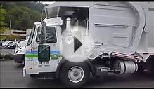 Garbage trucks at Truck stop at Portland,Oregon