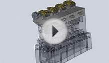 Inline 4 Engine Animation Solidworks