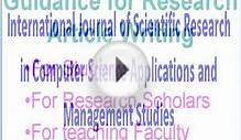 International journal of Scientific Research in Computer