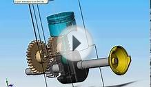 Motor 4T animación - 4 stroke engine in motion