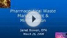 Pharmaceutical Waste Management & Minimization