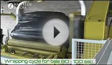 RDF waste baling machine MAC 110 L/1: baling and wrapping