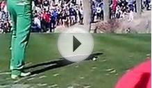 Rickie Fowler Tee shot at 2012 Waste Management Phoenix Open