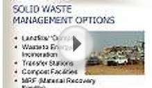 SOLID WASTE MANAGEMENT OPTIONS