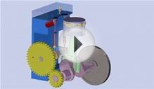"SolidWorks Animation- Piston Cylinder ""Flat Head"" Lawn"