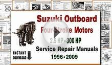 Suzuki Four Stroke Outboard Motors Repair Manuals