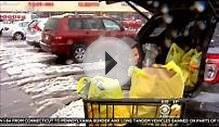 Thanksgiving Dinner Shoppers Brave Winter Weather In New