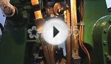 Vintage Wheel Working Rotate Stationary Engine Stock Video