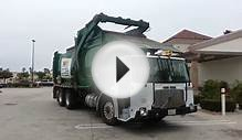 Waste Management Front Loader Picking Up A Dumpster!