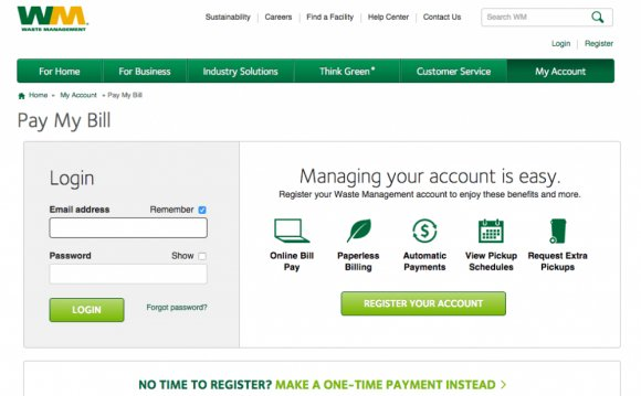 Waste Management Online Bill Pay